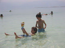 Adam Floating in the Dead Sea with his Cousin Omer in Israel, Summer of 2007