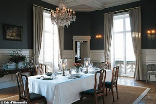A Formal Dining Room With Crystal Chandelier Via Cote De Texas My Table 120 Without Leaves And There Are Three Would Be Much