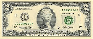 Face of the Series 2003A $2 bill