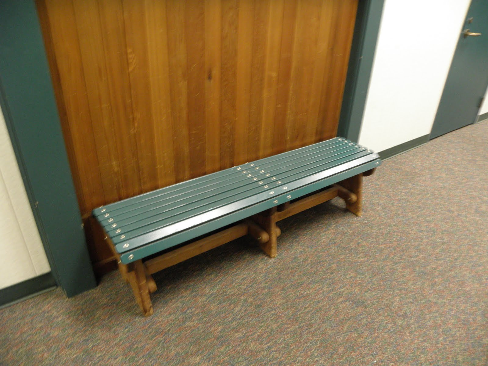 Benches4paulie Backless Wooden Slat Curved Bench