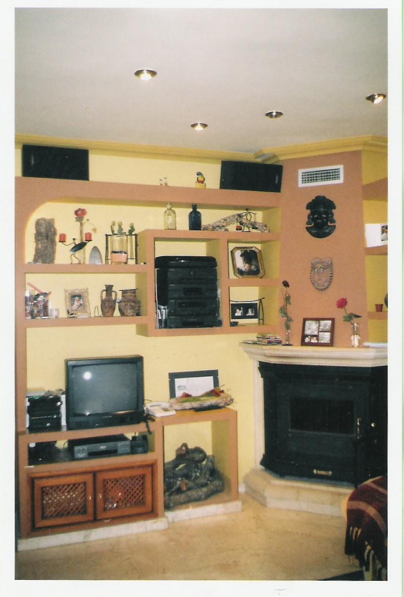 Pladur en granada mueble de salon con chimenea for Muebles pladur