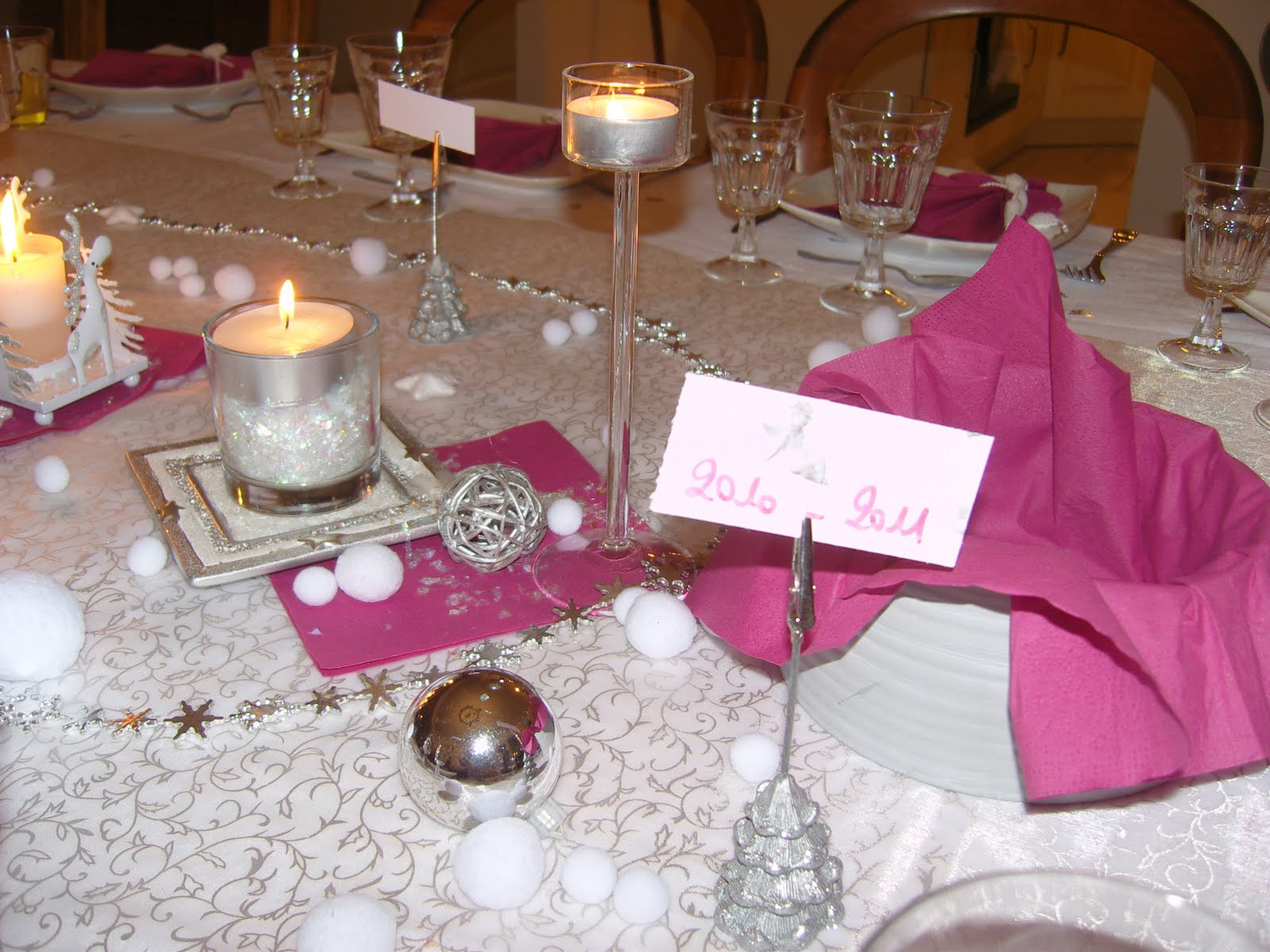 Dans la maison de s verine d coration de table du for Decoration reveillon