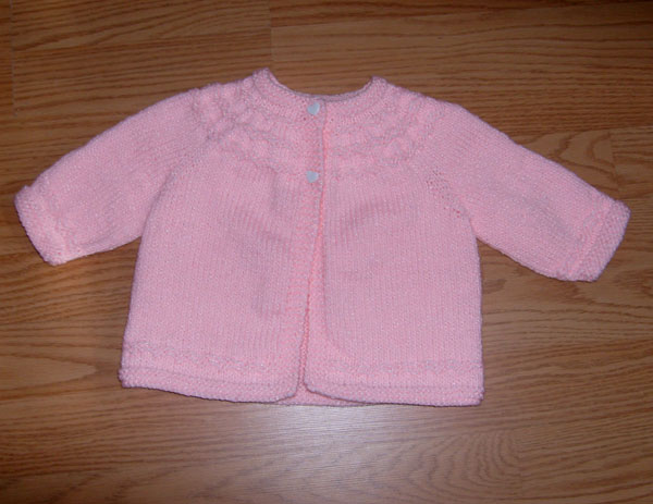 Knitting Pattern For Baby Seamless Yoked Sweater : Seamless Yoked Baby Sweater Pattern - Sweater Grey