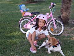 María, Bimba y Pupi en el parque