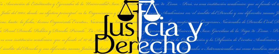 ASOCIACION CIVIL JUSTICIA & DERECHO - UIGV - Hecho el Deposito Legal Nº 2009 - 16741