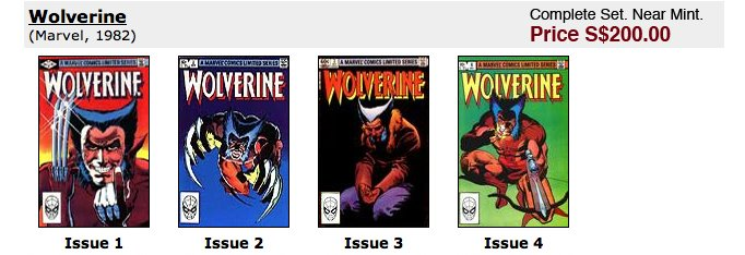 Wolverine Mini Series #1-4