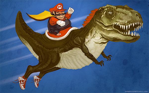 Mario+dinosaure