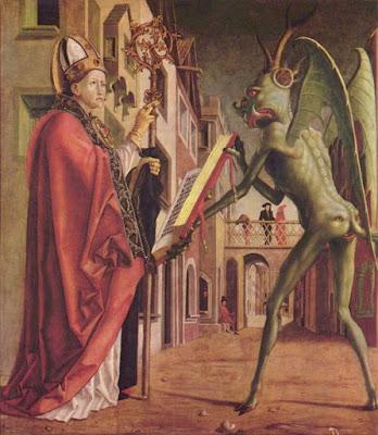 Démon tentant un saint au nom très secondaire