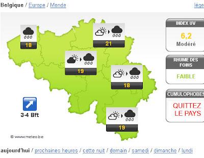 Cumulophobie météo belge