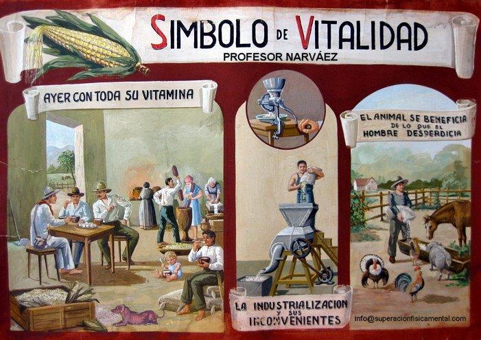 """Símbolo de Vitalidad """"El Maíz"""" Por el Profesor Narváez"""