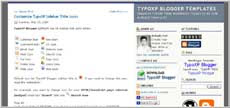 TypoXP template for Blogger screenshot