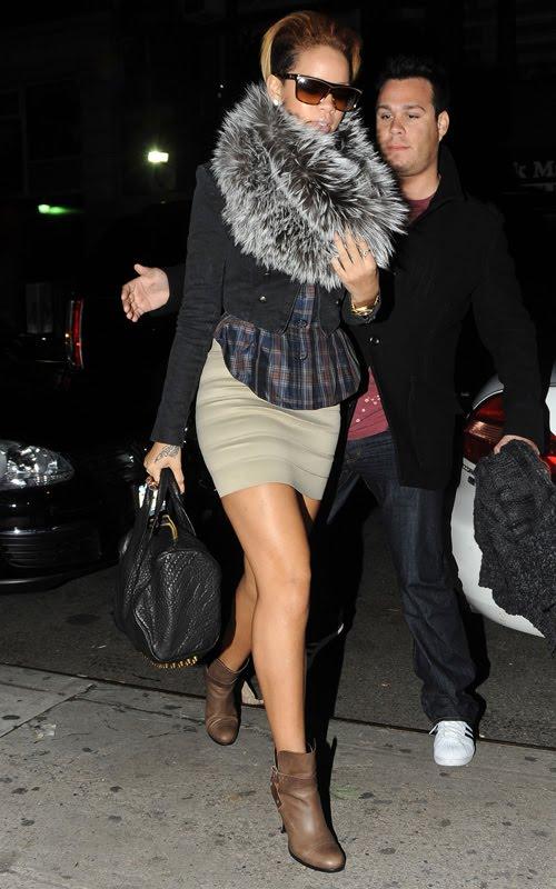 Rihanna with Alexander Wang Rocco Duffel Bag