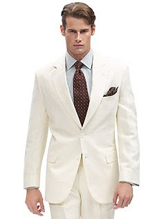 Brooks Brothers Two-Button Linen Suit