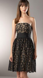 floral lace dress from Neiman Marcus