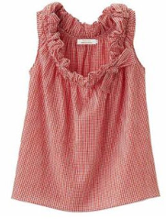 Steven Alan Gingham Sleeveless Blouse