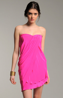 Georgette Strapless Dress