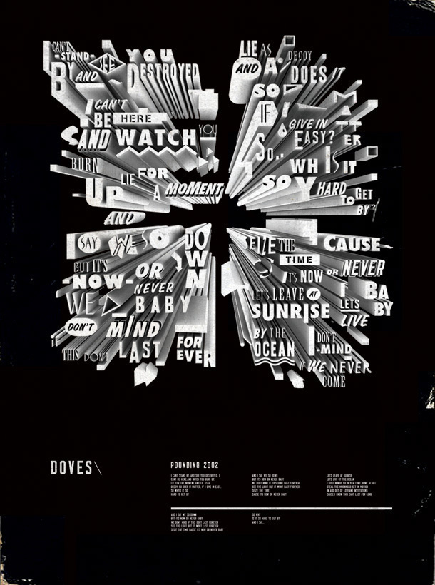 Doves Lyric Poster by I Love Dust