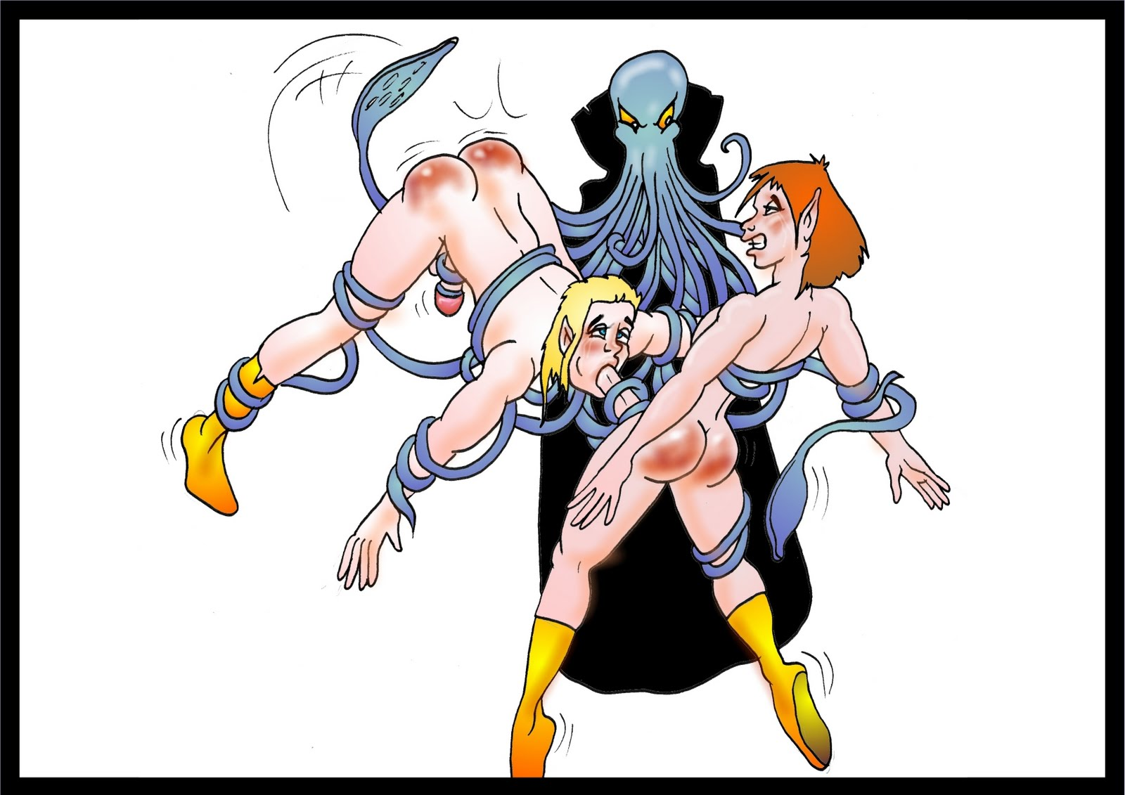 Elf spanking art erotic comics