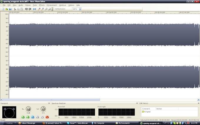 Kerja mustahil (Sound Editing)
