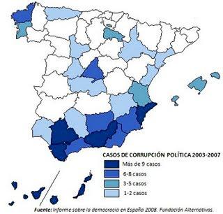 Mapa Corrupción Política en España