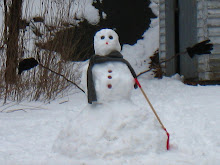 A Neighborhood Snowman