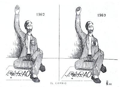 El cambio, felicitacion de Navidad, de Salvador Manzanera