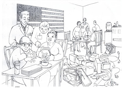Elecciones USA, felicitacion de Navidad, de Salvador Manzanera