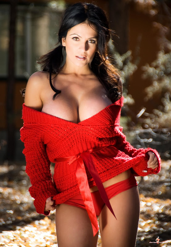 Denise Milani in  Red Sweater  stills