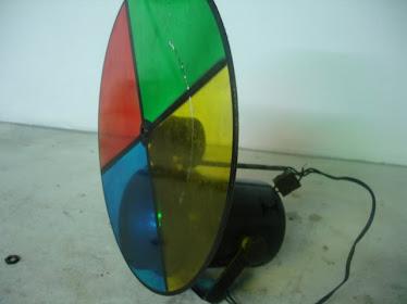 Projector com motor de filtro 4 cores