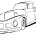Desenho de carro para colorir desenho infantil, caminhonete