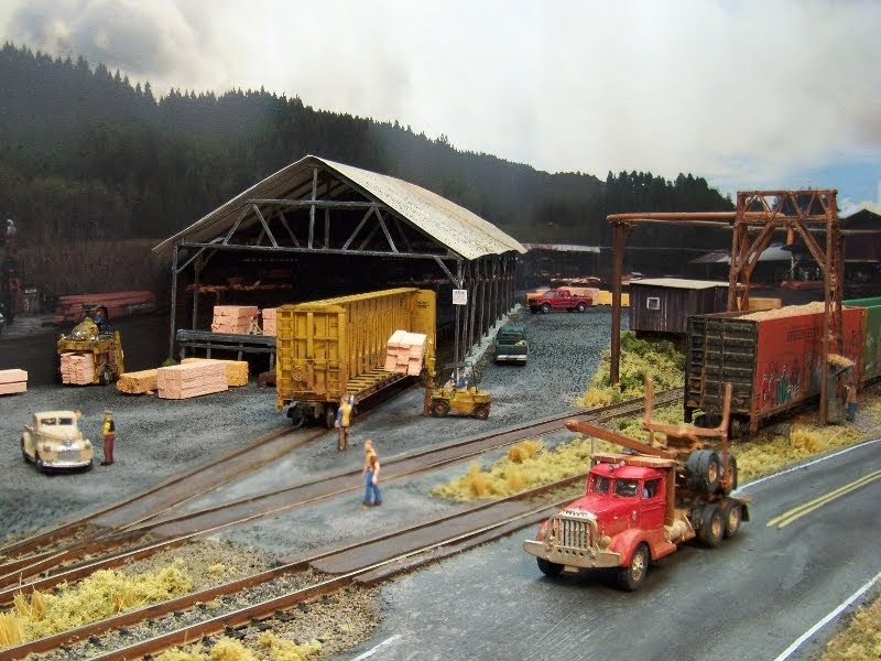 how to make a model australian model railway scene