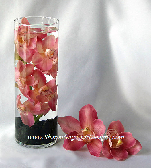 Labels center pieces flowers orchids