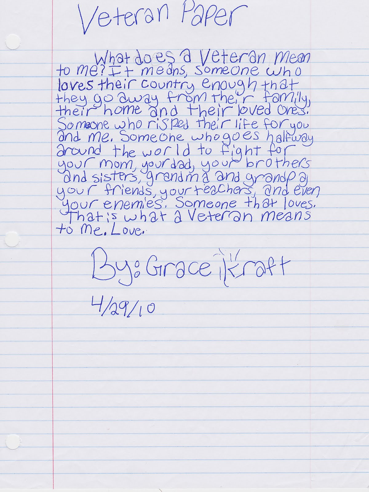 what does a veteran mean to me by grace joanne kraft what does a veteran mean to me by grace 11