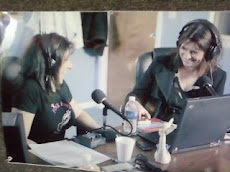 Anne(on the right) on the Radio