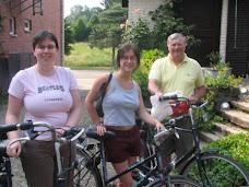 fietsers staan klaar voor de tocht.
