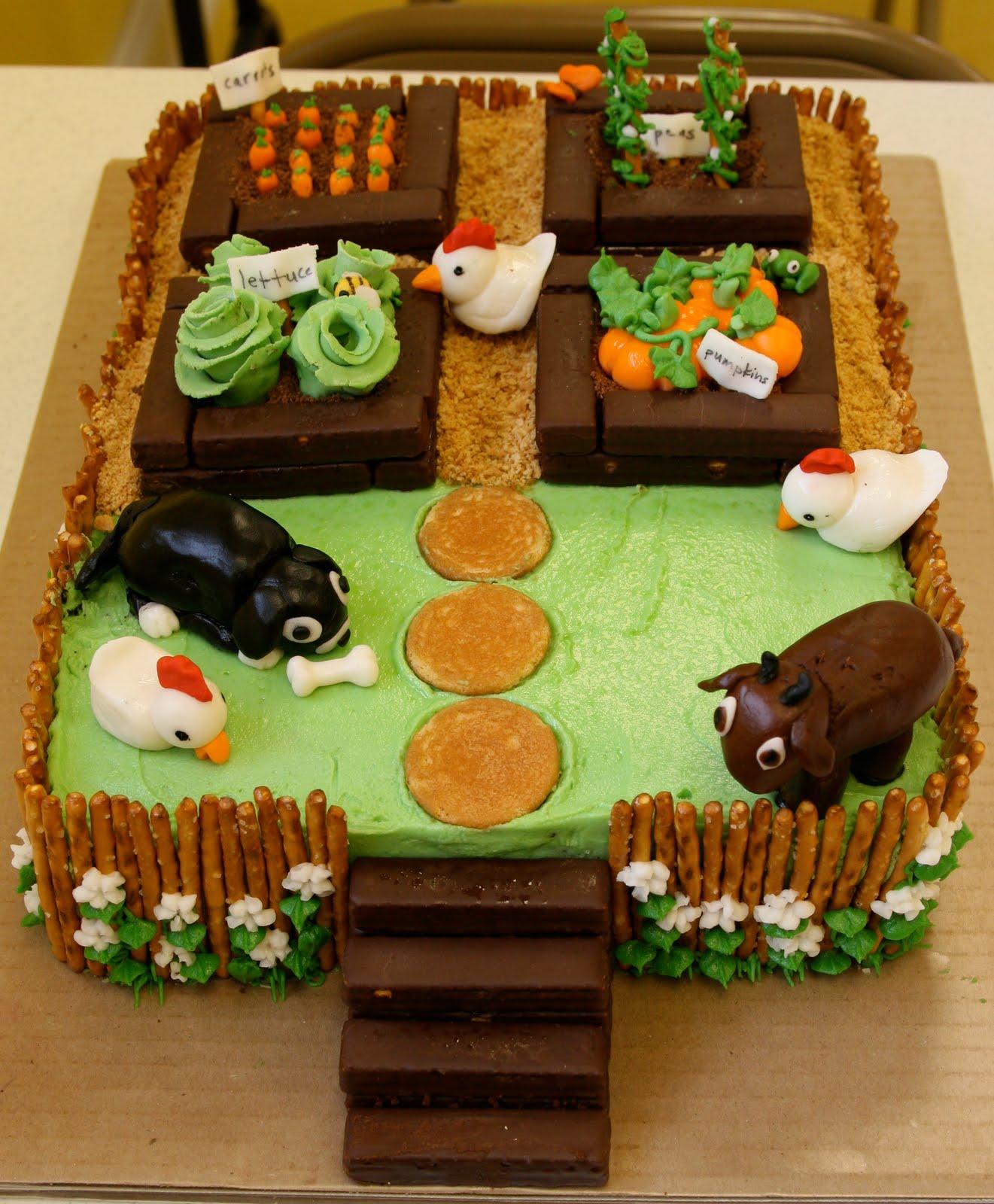 the cake box girls farm garden cake. Black Bedroom Furniture Sets. Home Design Ideas