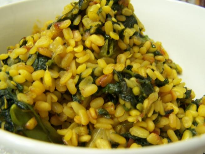 spicycurries: Palak & moong daal ki sabji (spinach & moong daal)