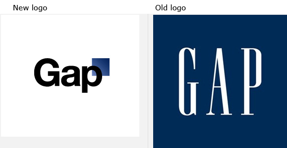 am shocked that The Gap had the nerve to change their logo.