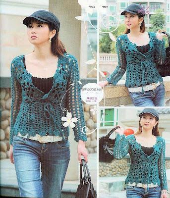 Blusas a crochet picasa - Imagui