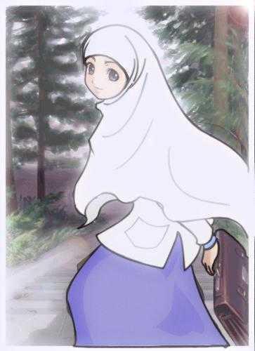 wallpaper muslimah kartun. wanita wallpaper muslimah