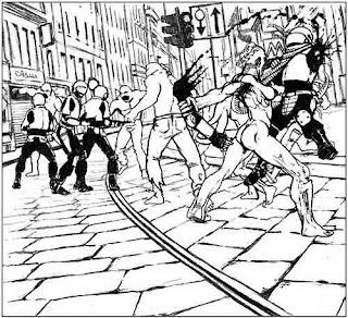 Scatter mutanti cannibali fumetto immagine