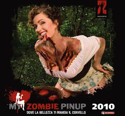 My Zombie PinUp 2010 calendario copertina italiana