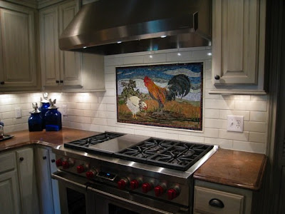 Tile Murals Roosters Designs and Decorative Tiles for Kitchen