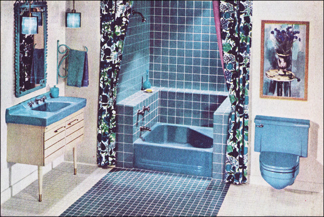 Kitchen and residential design still stuck in the 60s for 1960s bathroom design