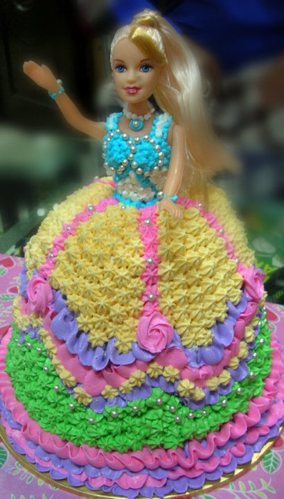 Birthday Cake Images Doll : Annis Home Bake Cakes n Pastries: Barbie Doll Birthday Cake I