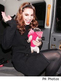 Kelly Brook Steps Out With New Love Puppy