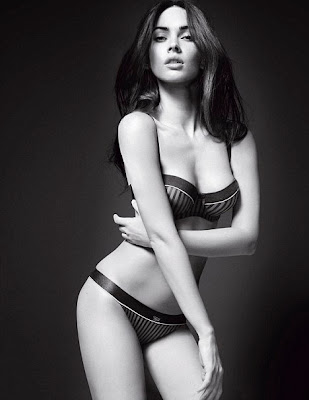 megan fox hot armani lingerie