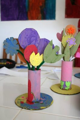 Toilet Paper Roll Vases Munchkins And Mayhem