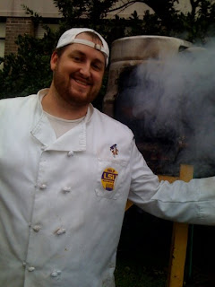 jay d ducote chef with smoker