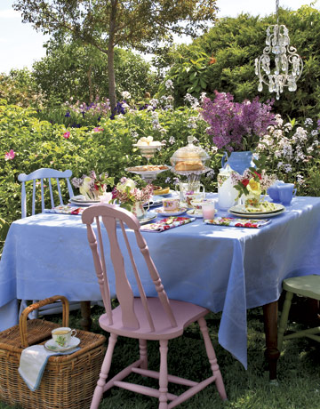 Have tea party outdoor with